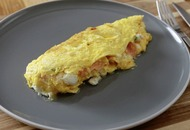 James St Cookery School: Smoked salmon and goat's cheese omelette, Spanish tortilla