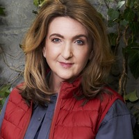 Victoria Derbyshire covered in fish guts, offal and slime
