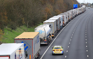 Long queues on M20 caused by Brexit border control tests at Channel Tunnel