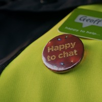 Asda delivery drivers combat customers' loneliness with 'happy to chat' badge