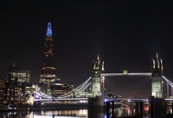 London's Shard annual light switch-on done by NHS staff in honour of key workers