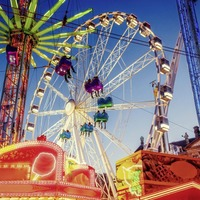 The investment fairground offers both thrill rides and more gentle attractions