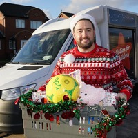 Jason Manford delivers food and toys as part of Secret Santa campaign