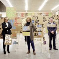 Communities minister Carál Ní Chuilín visits Mac as arts centre reopens after Covid closure