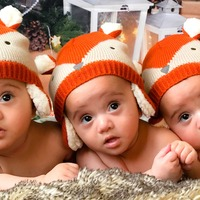 Mother celebrates Christmas with triplets after 12th attempt at IVF