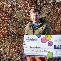 Paver wins £10,000 a month for next 30 years in Lotto draw