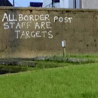 'Disturbing' graffiti threats to border control staff investigated by police