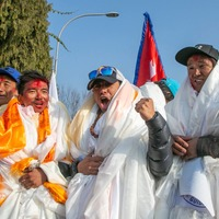 Hero's welcome for Nepal team that scaled K2 as they arrive home