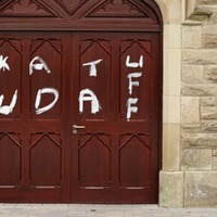 Police launch investigation after 'disgraceful and offensive graffiti' daubed on Catholic church