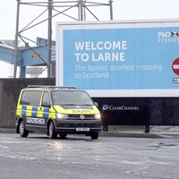 On a good day you can see Scotland from Larne - this was not a good day