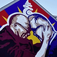 Richard Moore and Dalai Lama mural to feature on Joanna Lumley's TV show