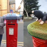 Retired police officer vows to keep town's spirits high with post box toppers