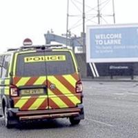 Two men charged with Irish Sea border graffiti in Larne