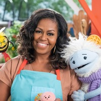 Michelle Obama teams up with puppets for Netflix children's cookery show