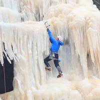 In Pictures: Ice day to climb a waterfall?