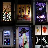 East Londoners use their windows to create lockdown art gallery