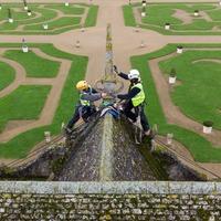 In Video: Don't look down – stonemasons survey Elizabethan mansion