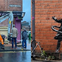 Banksy mural 'saved from death sentence', says art collector who removed it