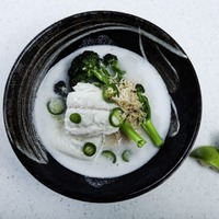 James Street Cookery School: Coconut and fish soup and salmon and miso soup