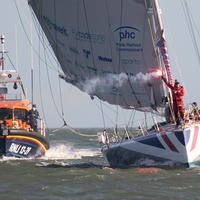 Round-the-world solo sailor Pip Hare given 'incredible' home-coming reception