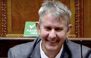 Edwin Poots returns to Stormont three weeks after surgery