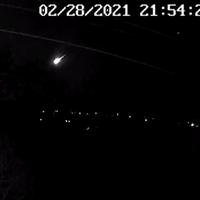 Fireball that lit up UK skies likely to be piece of asteroid, say scientists