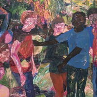 Artwork embodying 'deeply social nature of humans' wins painting prize