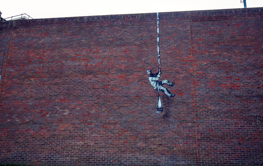 Artwork on former prison confirmed as Banksy