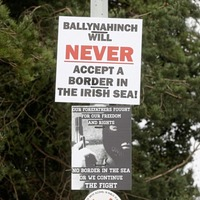 Sinister Irish Sea border posters condemned