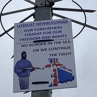 Sinister loyalist sign put up in Co Derry designed to intimidate