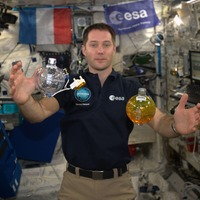 Astronaut looks forward to tucking into French cuisine on space mission