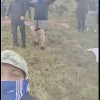 Rangers fans gather on Black Mountain ahead of match