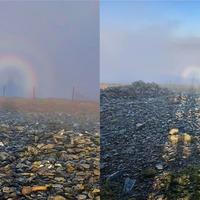 'Speechless' hiker spots rare Brocken spectre weather phenomenon in Wales
