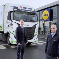 Lidl and McCulla launch fully green transport fleet