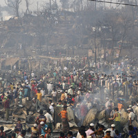 Tens of thousands homeless after fire at Bangladesh Rohingya refugee camp