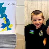 Brothers, three and five, send hundreds of thank you cards to frontline workers