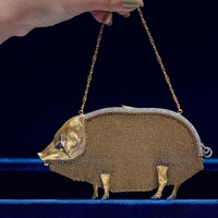 Jewelled pig-shaped evening bag sells at auction for nearly £110,000