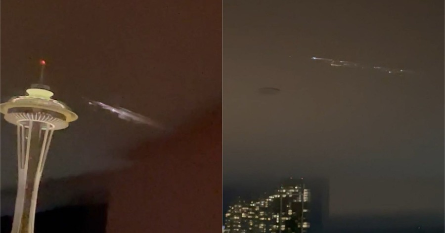 Spectator fireball stuns in Seattle as a SpaceX rocket fires in the atmosphere