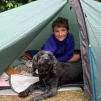 Max marks a year of camping in his garden for charity