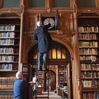 Sir Lindsay Hoyle helps to turn Parliament's 2,000 clocks forward