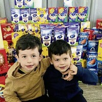 Two young Co Down brothers collect 270 Easter Eggs for staff and young patients in Daisy Hill Hospital