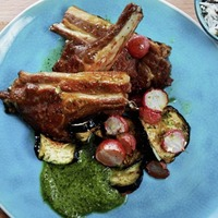 James St Cookery School: Easter lamb chops and herb and almond green sauce