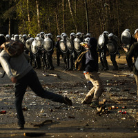Belgian police clash with revellers at party in Brussels park