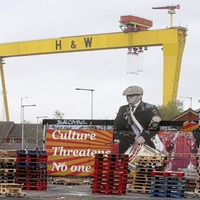 Pallets pile up as loyalists collect bonfire material