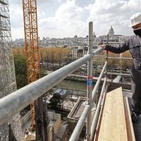 Emmanuel Macron hails 'huge job' rebuilding Notre Dame after devastating fire