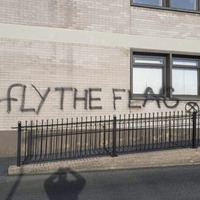 Graffiti calling for flags to be flown on Mid Ulster Council buildings condemned