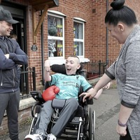 Belfast teenager who underwent life-changing medical treatment overjoyed by surprise visit from Carl Frampton