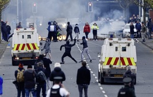Violence in west Belfast as loyalist protests resume