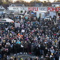 Crowds react with joy and wariness to Floyd verdict
