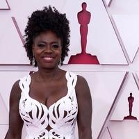 Viola Davis pays tribute to late Chadwick Boseman on Oscar red carpet
